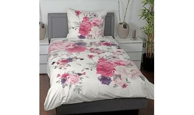 TRAUMSCHLAF Bettwäsche »Abena«, florales Design mit seidigem Glanz kaufen