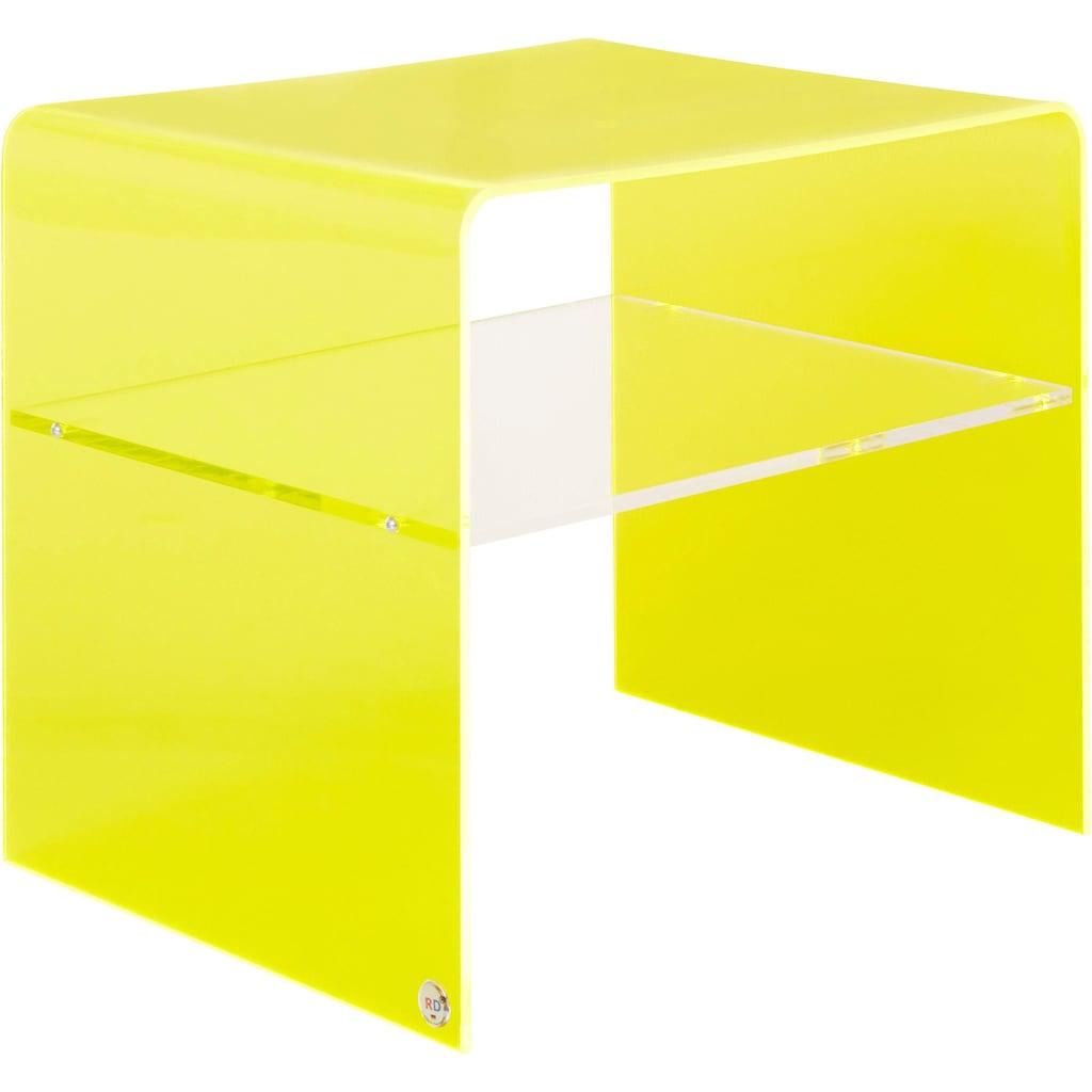 Places of Style Beistelltisch »Remus«, fluoreszierendes Acrylglas