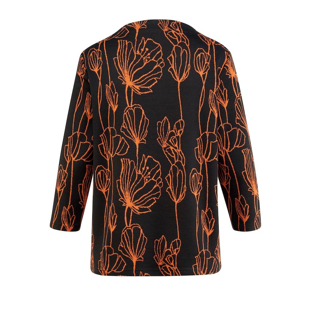 Mona 3/4 Arm-Pullover, aus hochwertigem Jacquard-Strick