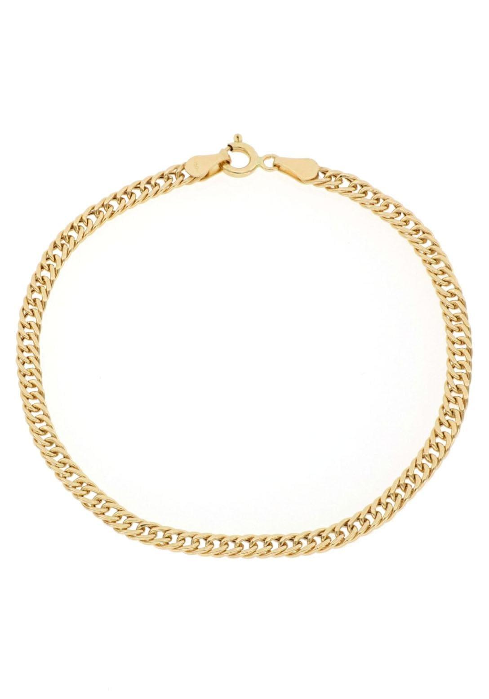 Firetti Goldarmband Doppelpanzerkettengliederung Diamantiert 34 mm breit | Schmuck > Armbänder > Goldarmbänder | Firetti