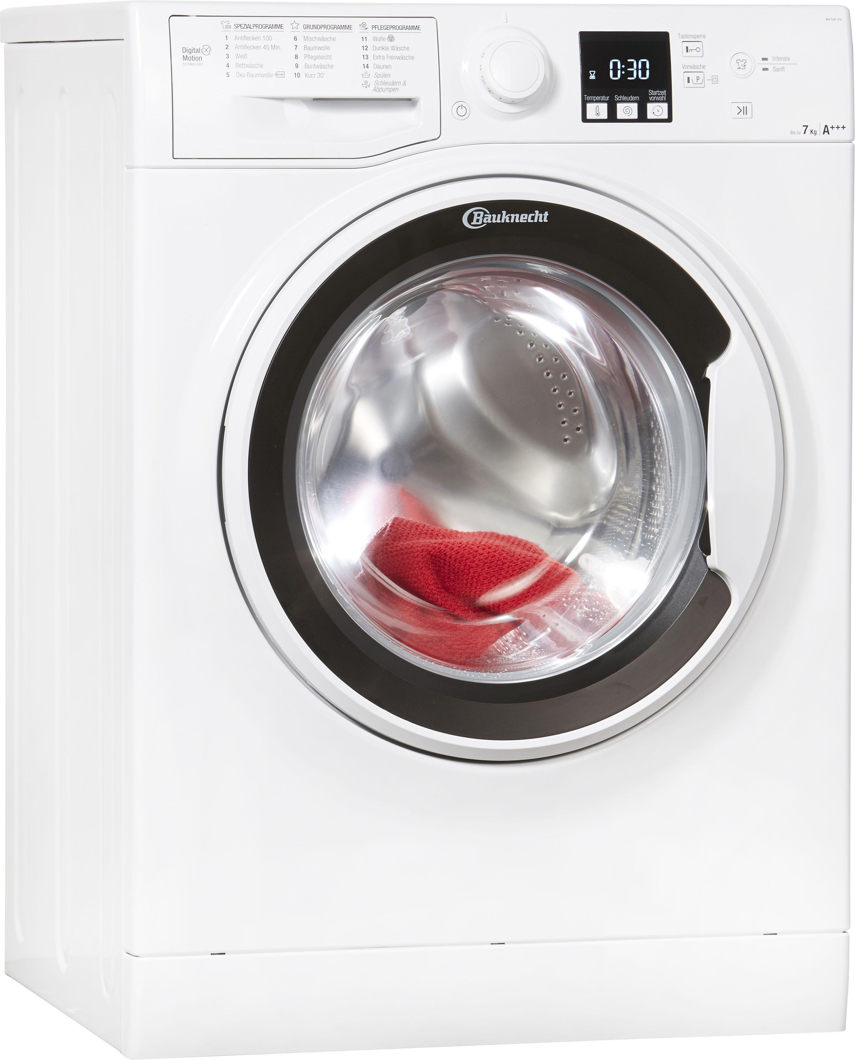 bauknecht waschmaschine wa soft 7f4 per rechnung baur. Black Bedroom Furniture Sets. Home Design Ideas