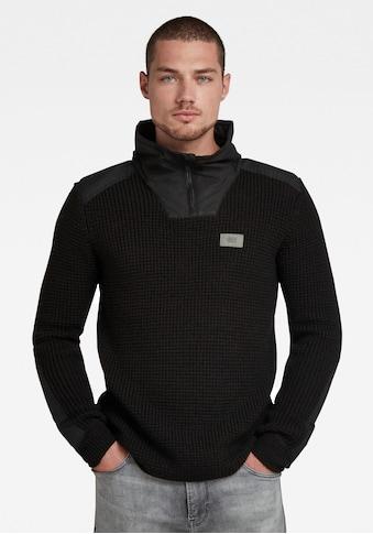 G-Star RAW Strickpullover »Mixed fabric half zip Knit« kaufen