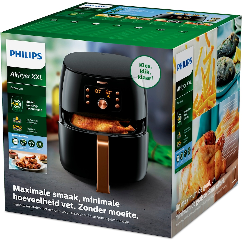 Philips Heißluftfritteuse »HD9860/90 Airfryer Permium XXL«, 2225 W, mit Smart Sensing Technologie, Fassungsvermögen 1,4kg, digitales Display