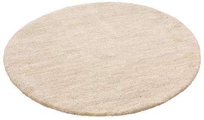 Wollteppich, »Punam«, Leonique, rund, Höhe 28 mm, manuell geknüpft kaufen