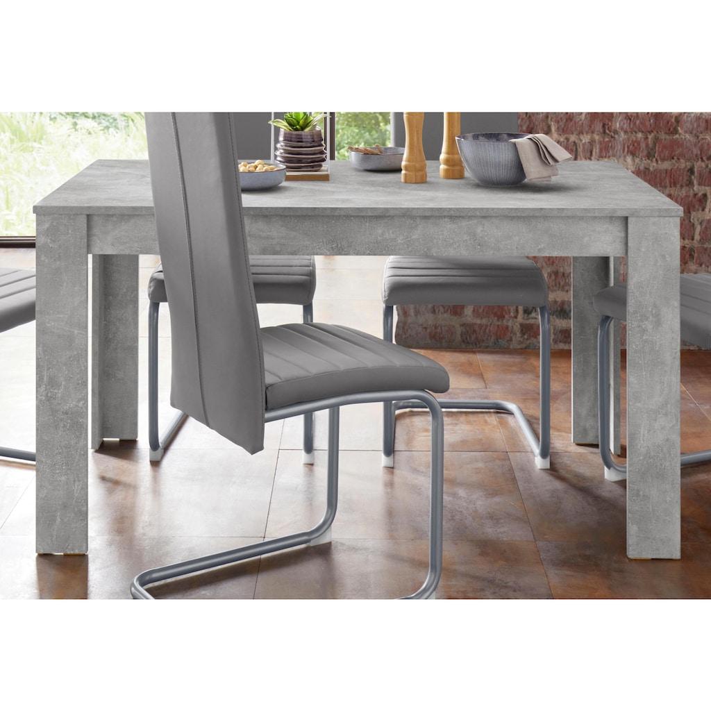 Homexperts Essgruppe »Nitro«, (Set, 7 tlg.), Tisch - Breite 140 cm + 6 Stühle