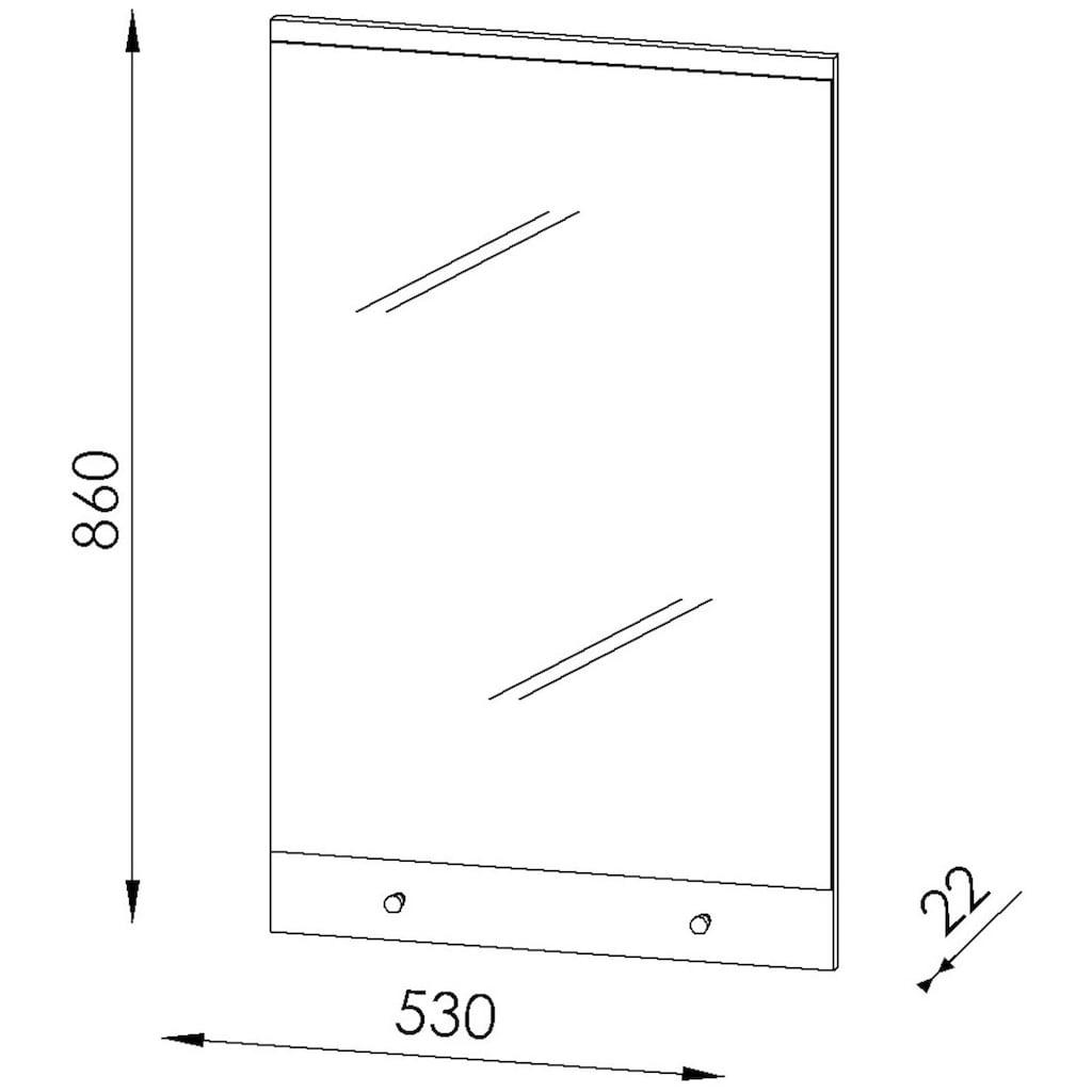Maja Möbel Garderobenspiegel »TREND Spiegel«, zwei Knopfhaken für Schlüssel oder Jacken
