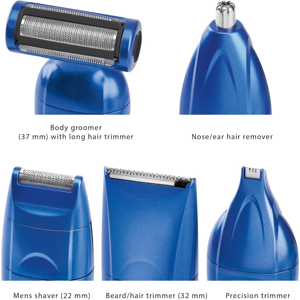 ProfiCare Körper- und Bikinitrimmer »PC-BHT 3015«, 7 Aufsätze, Multifunktionelles Haarschneidegerät für Gesichts- und Körperhaare