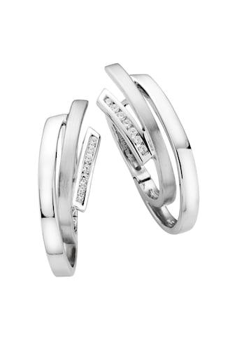 LaSagette Creolen »925/ -  Sterling Silber rhodiniert Zirkonia« kaufen