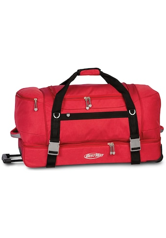 fabrizio® Reisetasche »Bestway Rollenreisetasche XXL, rot« kaufen
