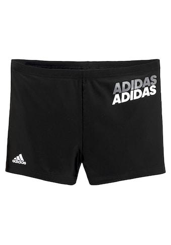 adidas Performance Boxer-Badehose, mit zweifarbigem Adidas Schriftzug kaufen