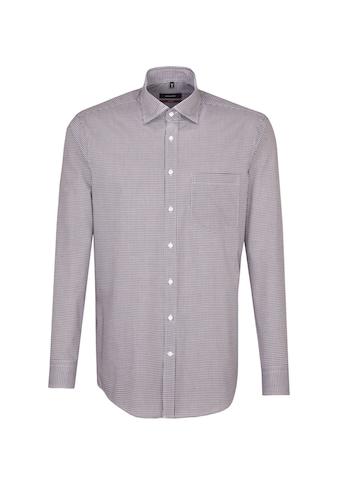seidensticker Businesshemd »Regular«, Regular Langarm Covered-Button-Down-Kragen Karo kaufen
