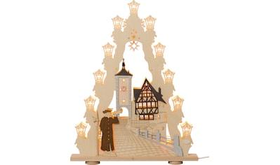 Weigla LED Lichterbogen »Rothenburg ob der Tauber«, 1 tlg., Lichterspitze, 15-flammig, mit 3D-Effekt kaufen