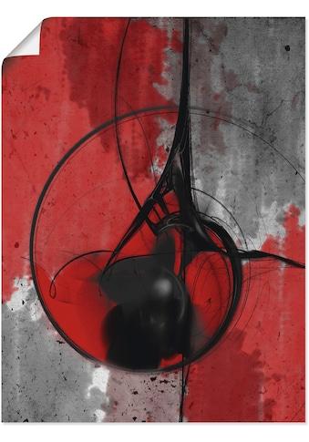 Artland Wandbild »Abstrakt in rot und schwarz«, Gegenstandslos, (1 St.), in vielen... kaufen
