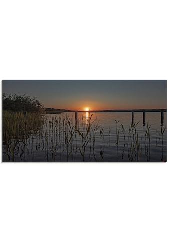Artland Glasbild »Früh morgens am Ratzeburger See«, Sonnenaufgang & -untergang, (1 St.) kaufen