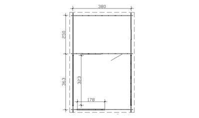 SKANHOLZ Set: Gartenhaus »Alicante 3«, BxT: 420x653 cm, inkl. Vordach mit Brüstung und Fußboden kaufen