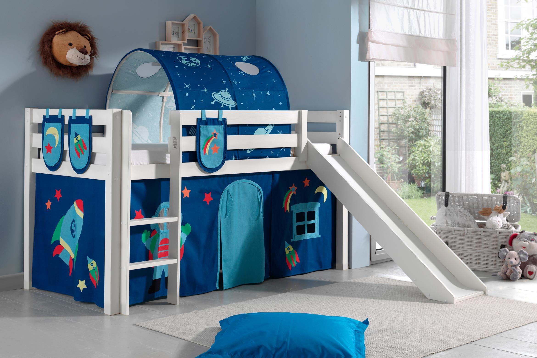 Etagenbett Hochbett Spielbett Kinderbett Jelle 90x200cm Vorhang : Kinderzimmer kinderbetten online kaufen möbel suchmaschine