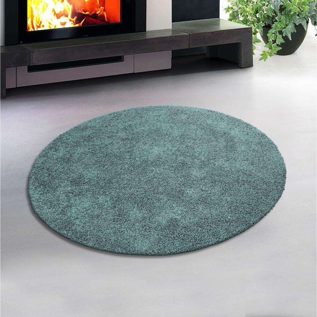 Home affaire Hochflor-Teppich »Shaggy 30«, rund, 30 mm Höhe, gewebt, Wohnzimmer