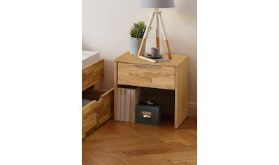 Home affaire Nachttisch »Lars 1«, mit einer Schublade aus massiver Kernbuche oder Eiche kaufen