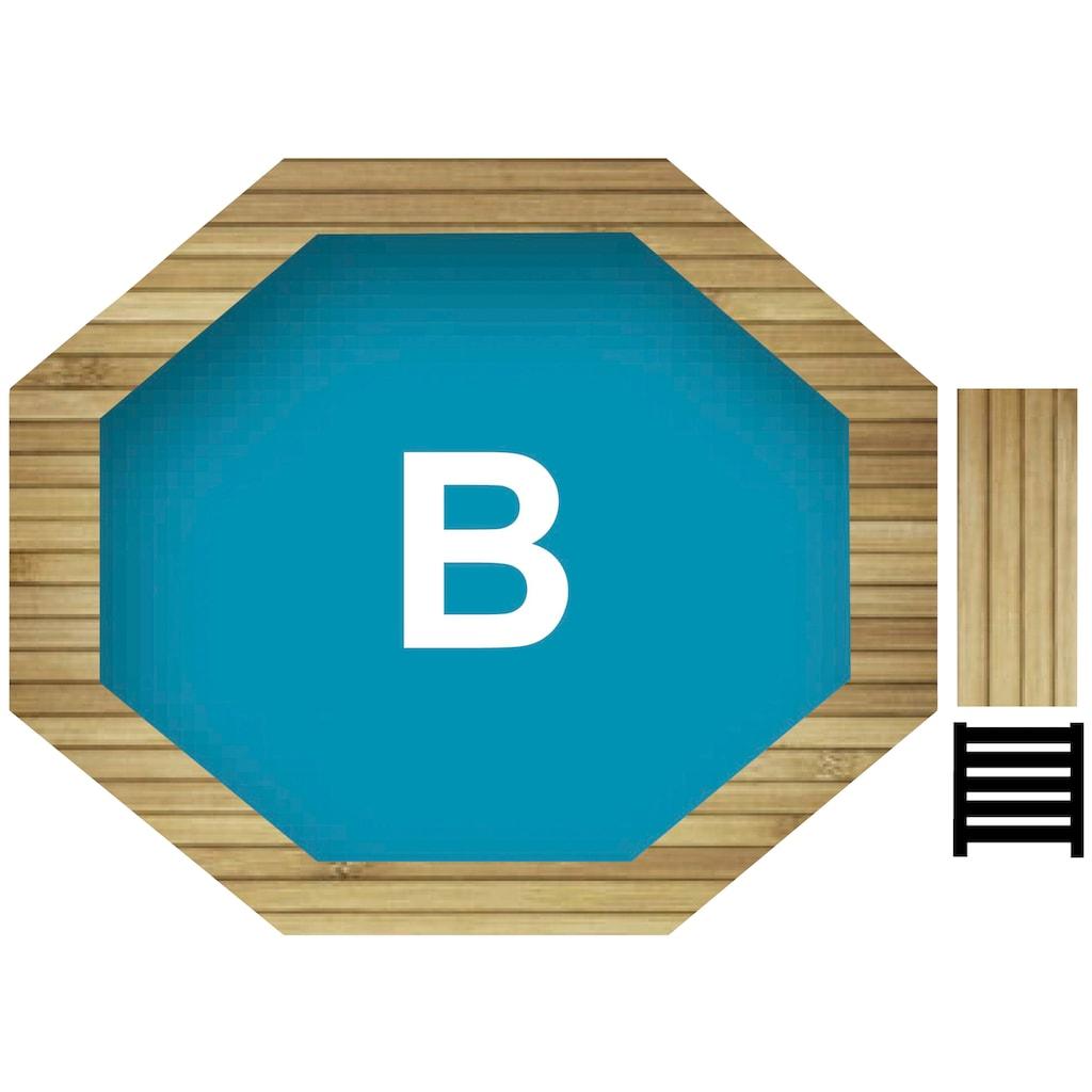 Karibu Achteckpool »Holzpool Gr. 1 Set B«