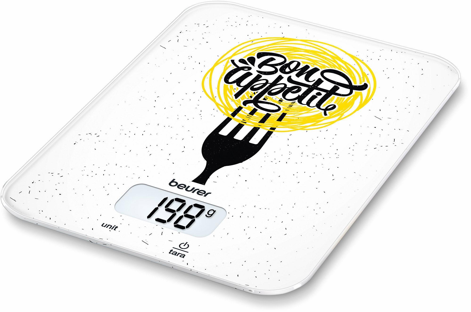 BEURER Küchenwaage ´´KS 19 Bon Appetit´´ | Küche und Esszimmer > Küchengeräte > Küchenwaagen | Weiß | Beurer