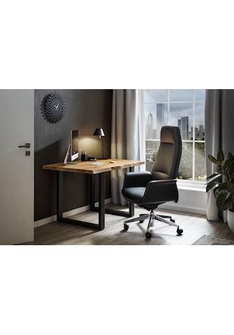SalesFever Schreibtisch, echte Baumkante, Home office Laptoptisch kaufen