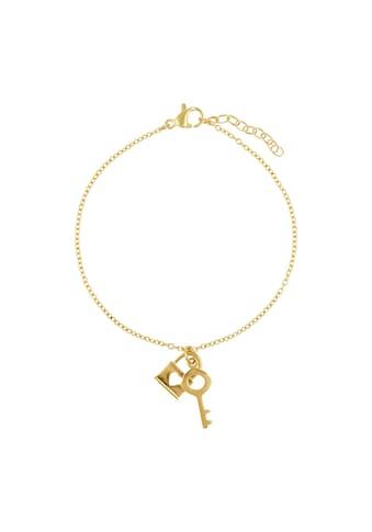Zeeme Armband »Edelstahl gelb Schloss/Schlüssel 17+3cm« kaufen