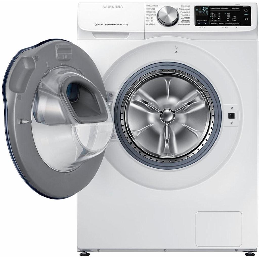 Samsung Waschmaschine »WW8EM642OPW/EG«, QuickDrive AddWash WW6800, WW8EM642OPW, QuickDrive & WiFi-Steuerung