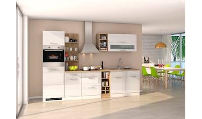 HELD MÖBEL Küchenzeile »Mailand«, mit Elektrogeräten, Breite 300 cm kaufen