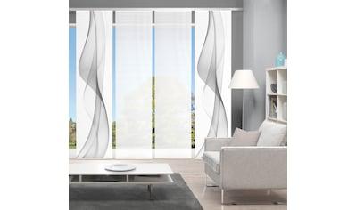 Vision Schiebegardine »WELARIO 4er SET«, Bambus-Optik, Digital bedruckt kaufen