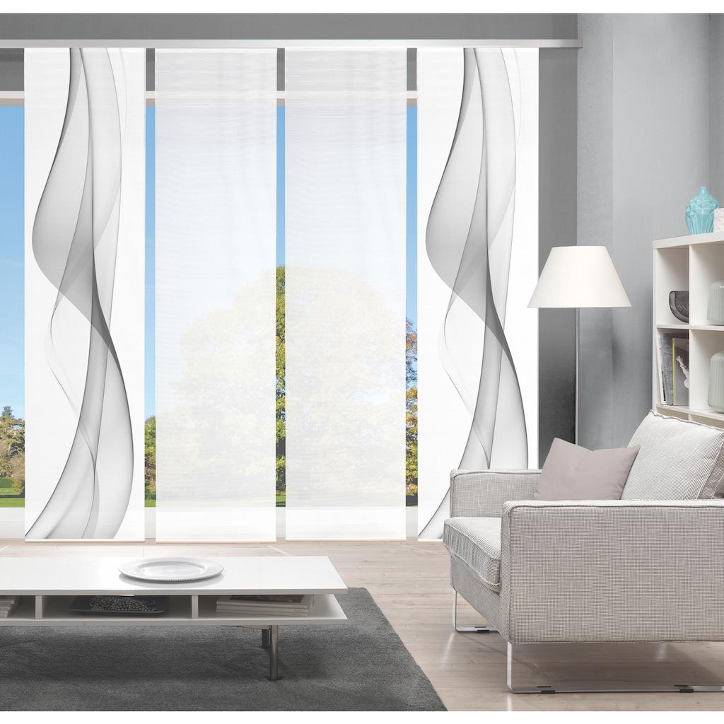 Vision Schiebegardine »WELARIO 4er SET«, Bambus-Optik, Digital bedruckt