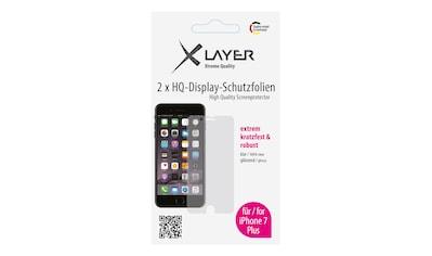 """XLAYER Schutzfolie »100% Clear 2x iPhone (7/8) Plus 5.5""""« kaufen"""