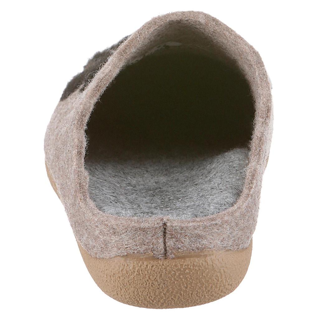 Maybe Pantoffel, mit herausstechendem Katzenmotiv
