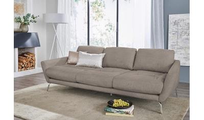 W.SCHILLIG Big-Sofa »softy«, mit dekorativer Heftung im Sitz, Füße Chrom glänzend kaufen
