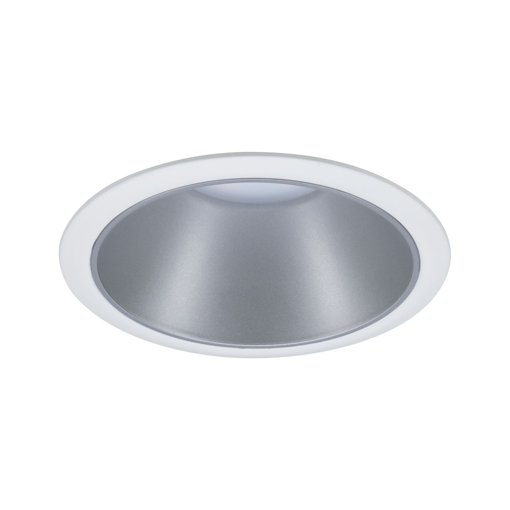 Paulmann LED Einbaustrahler »Cole 6,5W Weiß/Silber matt 3-Stufen-dimmbar 2700K Warmweiß«, Warmweiß