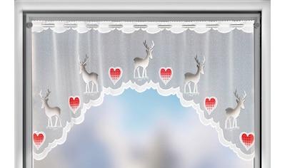 WILLKOMMEN ZUHAUSE by ALBANI GROUP Panneaux »Rentier«, Jacquard-Bogenpanneaux, handcoloriert kaufen