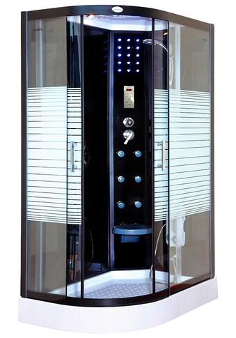 HOME DELUXE Dampfdusche »Black Pearl Komplettdusche«, mit LED Beleuchtung und Radio kaufen