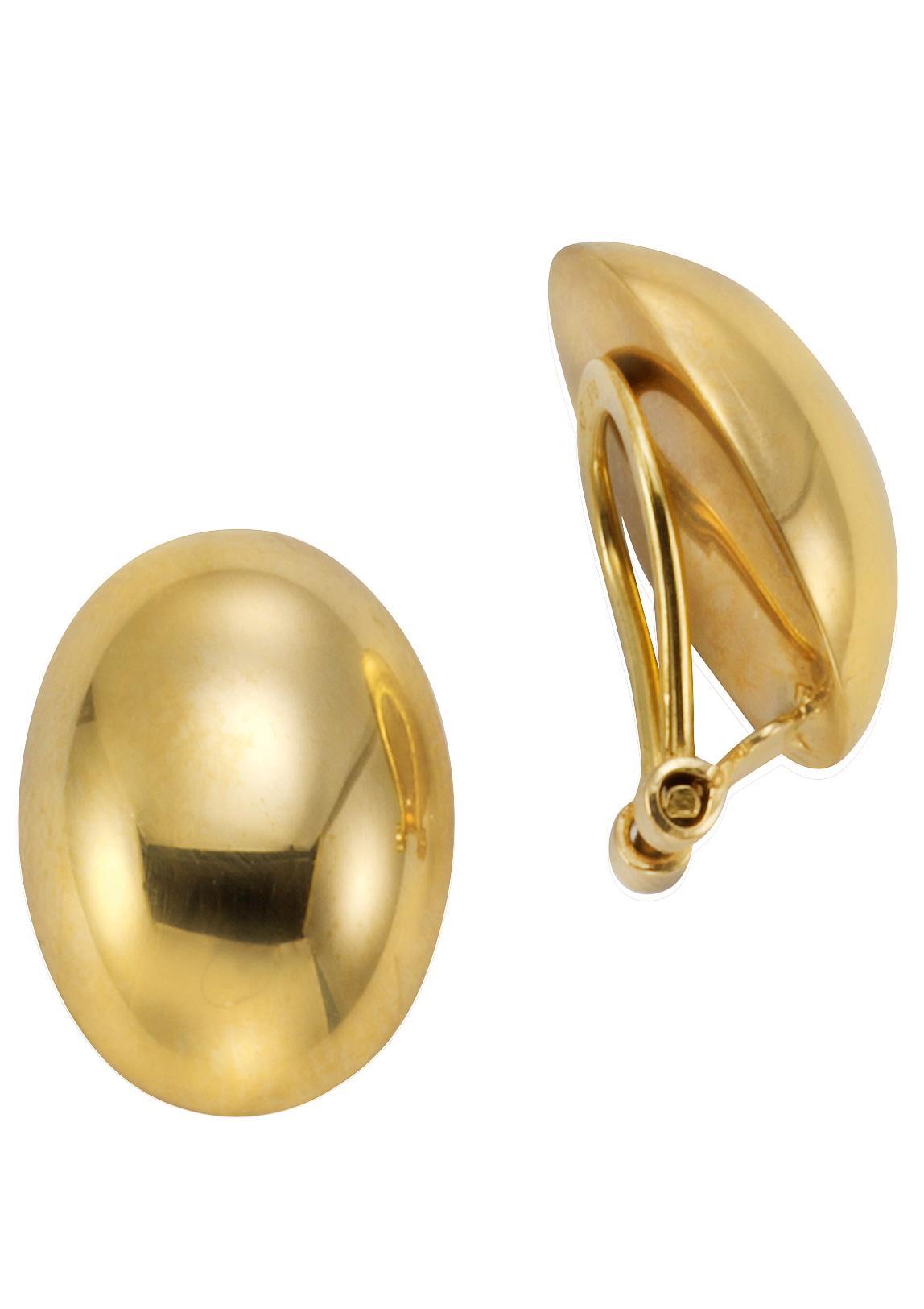 Firetti Paar Ohrclips ovale Form glanz | Schmuck > Ohrschmuck & Ohrringe > Ohrclips | Goldfarben | Firetti