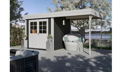 Kiehn - Holz Set: Gartenhaus »Großensee 1«, BxT: 475x228 cm, inkl. Anbaudach und Fußboden kaufen