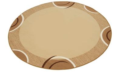 THEKO Teppich »Loures«, rund, 6 mm Höhe, Kurzflor, mit Bordüre, Wohnzimmer kaufen