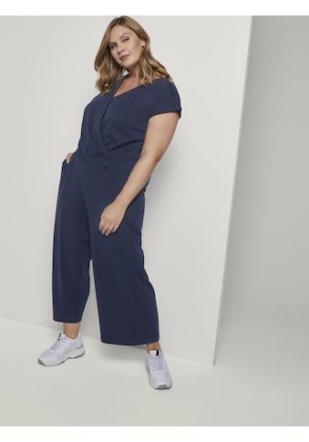 TOM TAILOR MY TRUE ME Jumpsuit »Curvy - Jumpsuit im Culotte-Look« kaufen