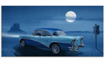 Artland Glasbild »Blaue Nacht auf der Route 66«, Auto, (1 St.) kaufen