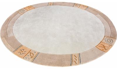 LUXOR living Wollteppich »India«, rund, 20 mm Höhe, reine Wolle, handgeknüpft, mit... kaufen