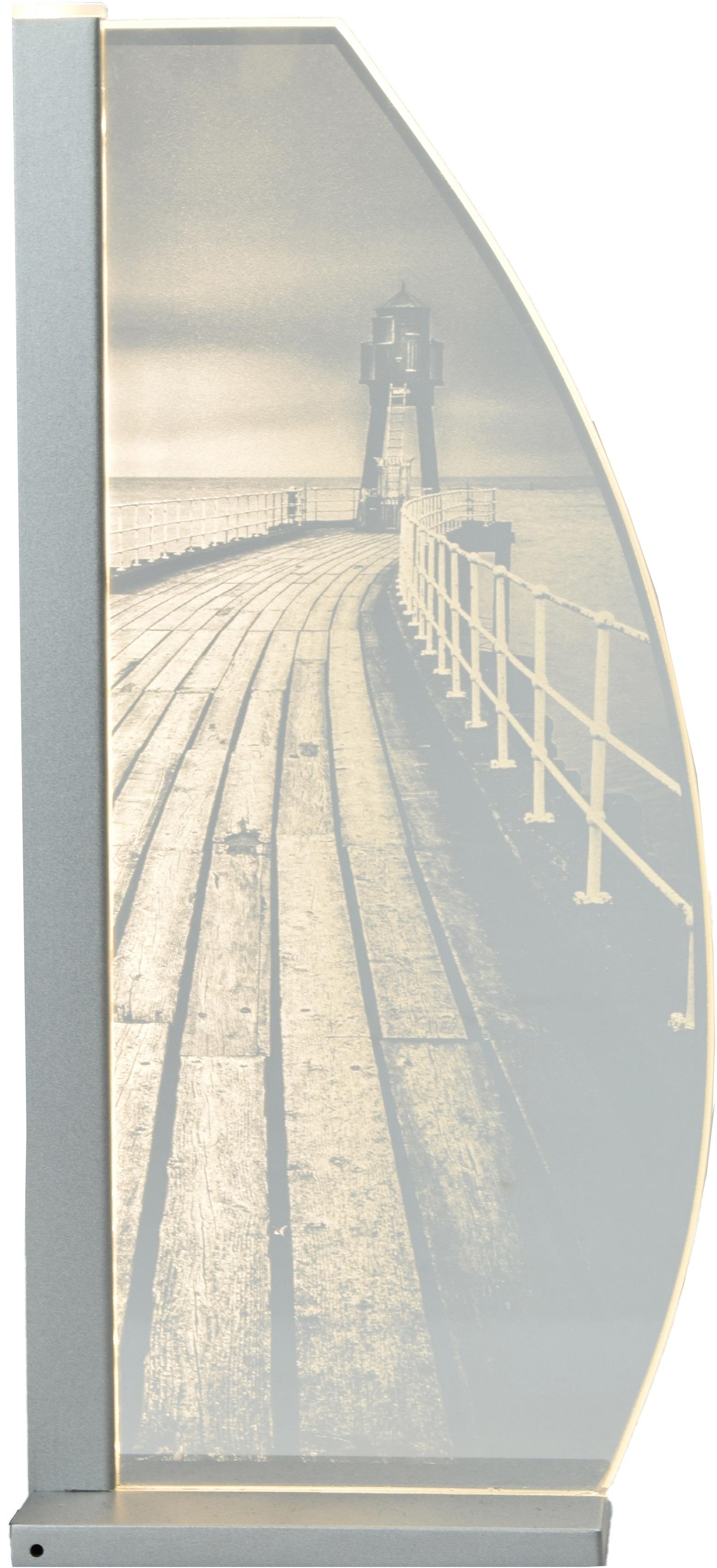 LUVERRE LED Tischleuchte Lighthouse, LED-Board, 1 St., Optisches Glas, Laserinnengravur, Lighthouse LED Tischleuchte