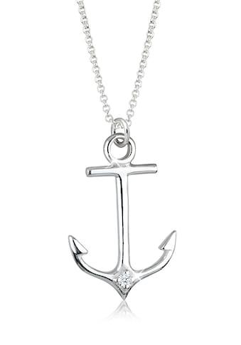 Elli Collierkettchen »Anker Maritim Diamant (0.03 ct.) 925 Silber« kaufen