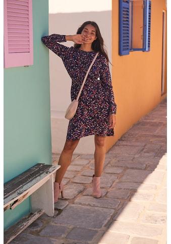 TOM TAILOR Blusenkleid, aus leicht strukturierter und wunderschön bedruckter... kaufen