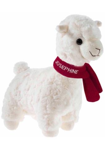 Heunec® Kuscheltier »Kuma Lama 30 cm, mit purpurfarbenen Schal«, mit individueller... kaufen