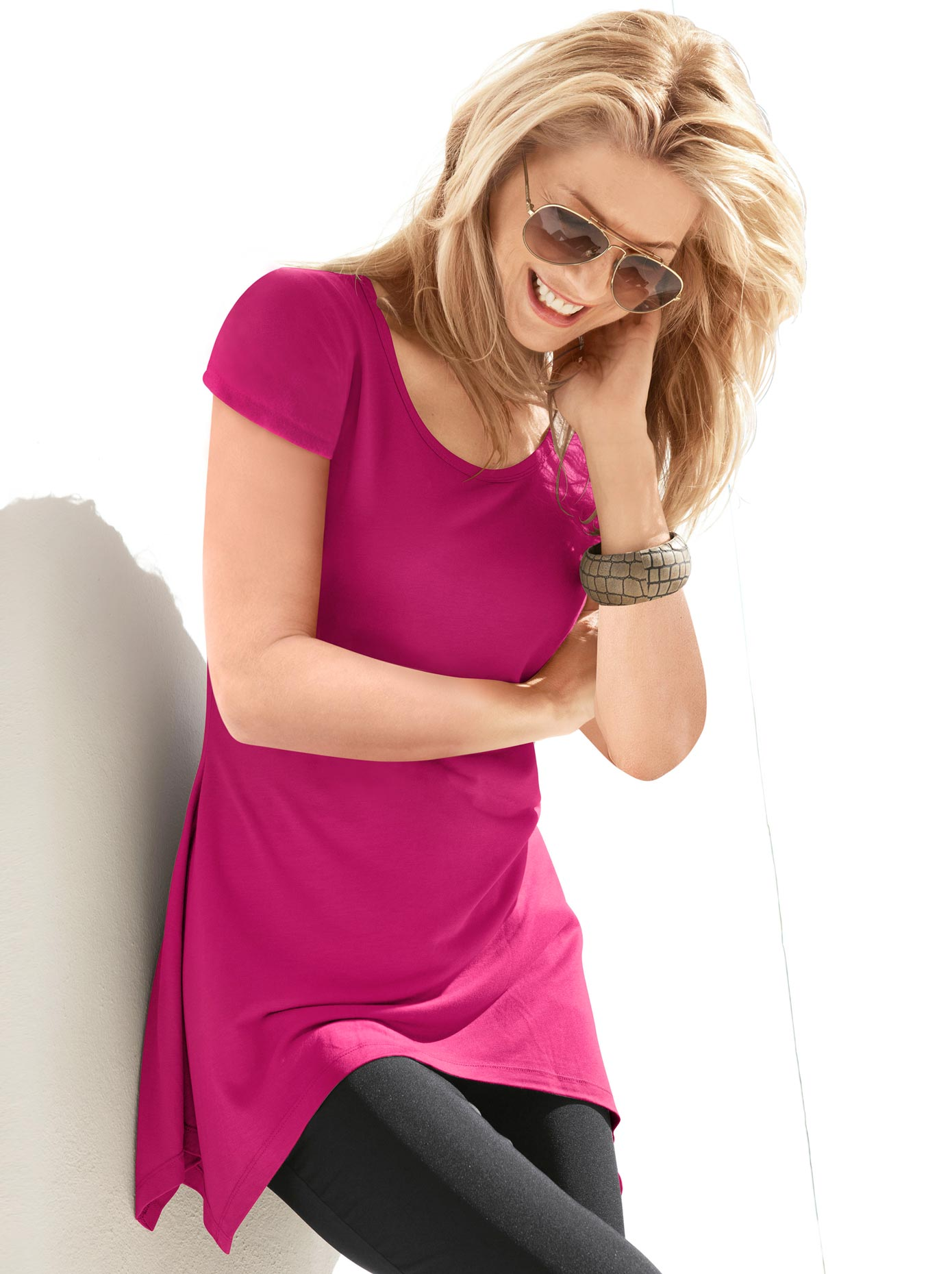 Longshirt | Bekleidung > Shirts | Rosa | Ambria