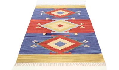 Teppich, »Kelim Svea«, carpetfine, rechteckig, Höhe 5 mm, handgewebt kaufen