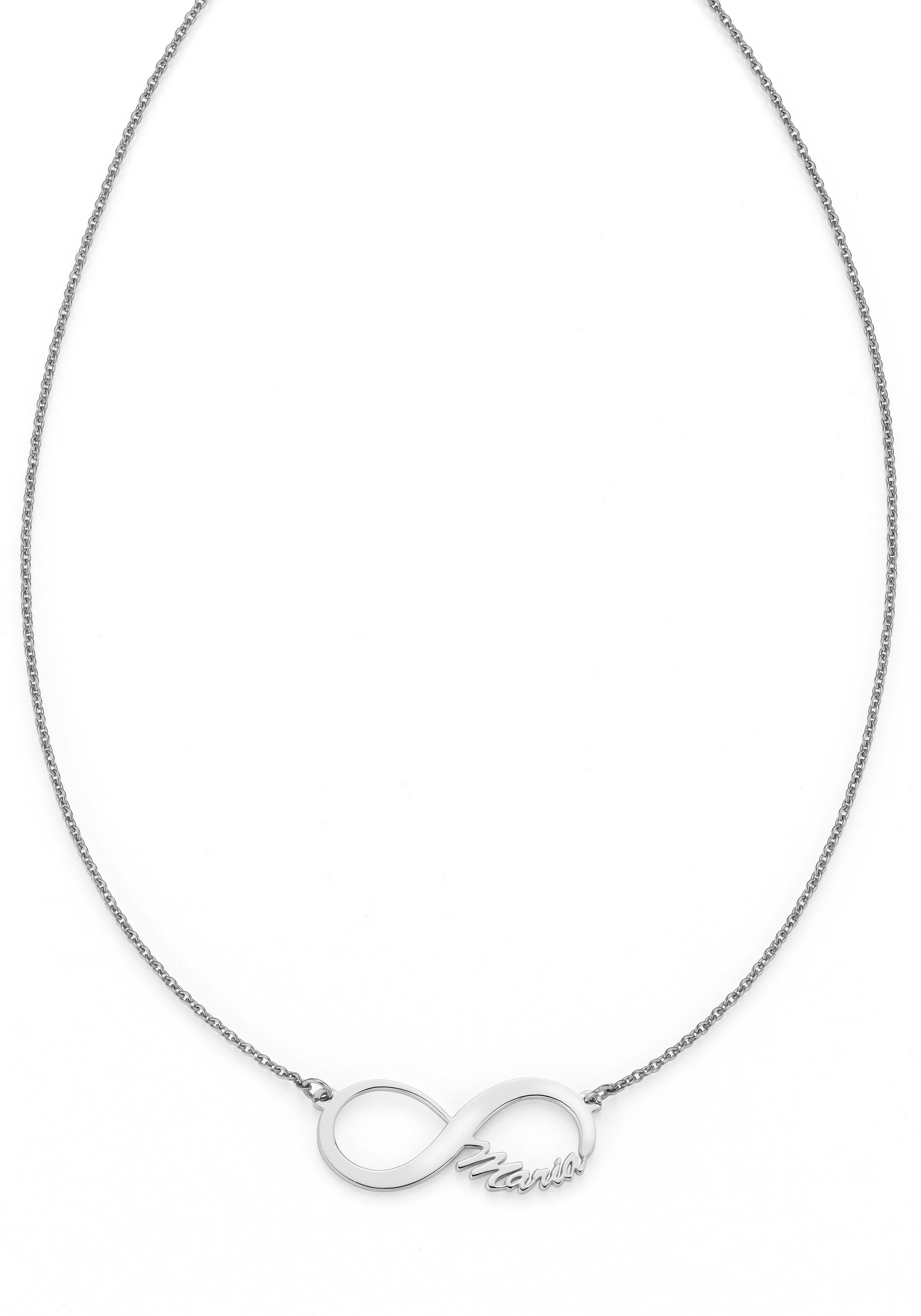 Firetti Namenskette Infinity Unendlichkeitsschleife - individuell mit Namen gestalten | Schmuck > Halsketten > Namensketten | Firetti