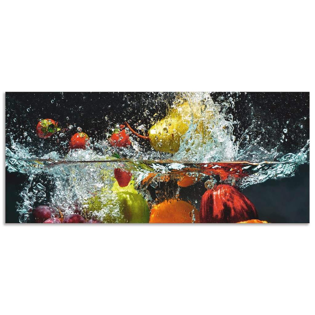 Artland Küchenrückwand »Spritzendes Obst auf dem Wasser«